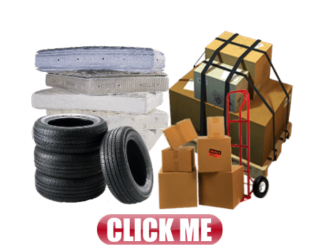 freight boxes tires matresses